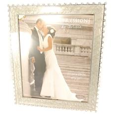 cornici portafoto 'romance' cromo beige (20x25 cm) - [ l1519]