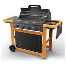 Barbecue Gas Campingaz Struttura In Legno Accensione Fornelli Pizoelettrica