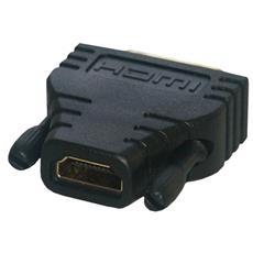 Adatttatore HDMI femmina / DVI-D maschio CG-281HQ connettore oro