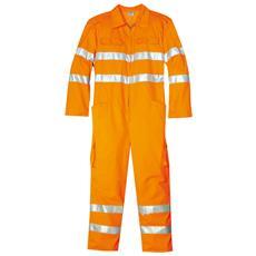 Tuta Ad Alta Visibilità In Cotone E Poliestere Colore Arancio Taglia 46