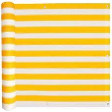 Paravento Da Balcone Hdpe 75x400 Cm Giallo E Bianco