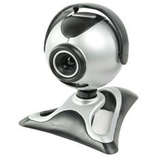 Konig CMP-WEBCAM21, 0,3 MP, 640 x 480 Pixels, 30 fps, USB 1.1, Nero, Argento, Stand