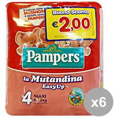Set 6 Easy Up 4 8-15 Kg. x 16 Pezzi Pannolini Linea Bimbobo