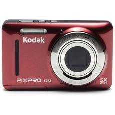 KODAK - Pixpro FZ53 Fotocamera Compatta 16 Mpx Zoom Ottico 5x Colore Rosso