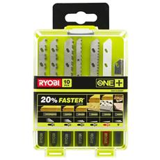 Box 10 Lame Per Seghetto Alternativo Per Ryobi Oneplus Legno - Granito Mattonelle Metallo Plastica Rak10jsbmp