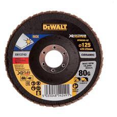 Disco Lamellare Ceramico Xr Flexvolt Per Materiali Ferrosi Diametro 125 Mm - Grana 80