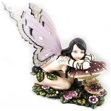 statuetta 'fairy dreams' marrone rosa - [ g0871]