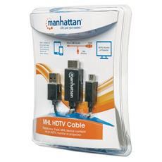 151498 Cavo per Smartphone e Tablet HDMI / USB M / M 1,5 m Colore Nero