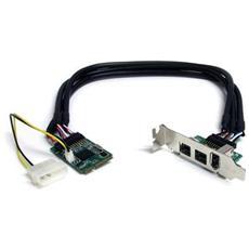 Scheda adattatore Mini PCI Express FireWire 2b 1a 1394 a 3 porte