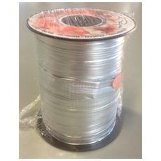 Nastro Raffia Sintetica Formato 125 mm x 50 m Argento Metallizato
