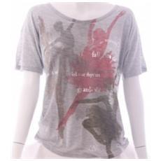 T-shirt Donna Viscosa Jersey Grigio L