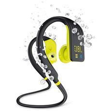 Cuffie Sportive Intrauricolari Endurance Dive Wireless Bluetooth Resistenti All'acqua Con Controlli Touch E Lettore Mp3 Colore Giallo