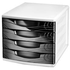 pz 1 Cassettiera 4 cassetti Origin nero 1064000011