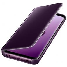 Flip Cover Custodia Clear View Standing per Galaxy S9 colore Viola RICONDIZIONATO