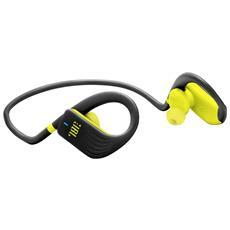 Cuffie Sportive Intrauricolari Endurance Jump Wireless Bluetooth Resistenti All'acqua Con Controlli Touch Ed Accensione / spegnimento Automatici Colore Giallo