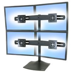 DS100 Quad-Monitor Desk Stand Nero