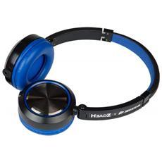 Cuffie Stereofonico Colore Nero e Blu