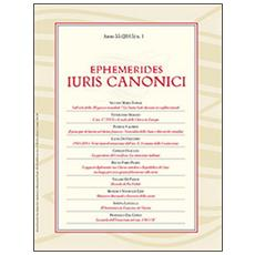 Ephemerides iuris canonici (2015) . Vol. 1