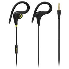 Auricolari Sport con Microfono Speak Fit In-Ear Colore Nero e Verde