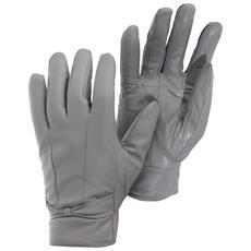 Guanti In Pelle Tinta Unita Donna (s / m) (grigio)