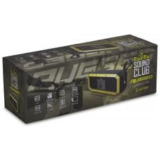 Sound Club RUGGED, Con cavo e senza cavo, Bluetooth / 3.5 mm, Stereo, Nero, Giallo, Universale, Batteria