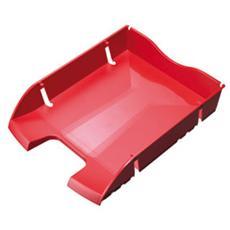 confezione da 6 pezzi - vaschetta portacorrispondenza rosso salvaspazio helit