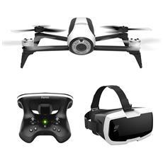 Bepop 2 Drone Cam Full HD 14Mpx colore Bianco con Stabilizzazione Digitale + Skycontroller 2 + Visore Cockpitglasses