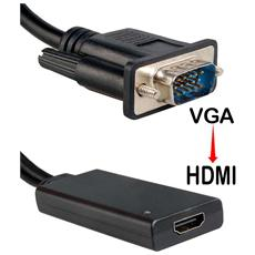Convertitore Da Vga A Hdmi Con Audio 2in1