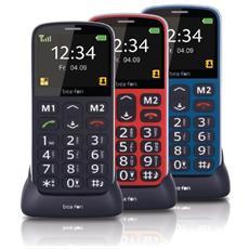 """SL340 Senior Phone Display 2.3"""" Micro SD Bluetooth con Tasti Grandi + SOS Fotocamera Colore Blu"""
