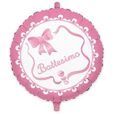 Palloncino Mylar Il Mio Battesimo Rosa Ø 45 Cm