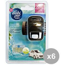 Set 6 Auto Base Aqua Deodorante Accessori Auto E Moto