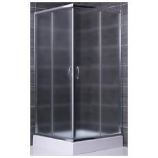 Box doccia 70x70 apertura angolare due lati in cristallo opaco