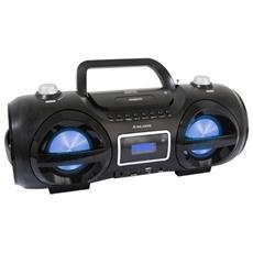 Lettore Cd Portatile. Mp3 / Usb / Sd Card. Funzione Bluetooth. Radio Fm Stereo. Effetto Disco Light - Ah234bt/mp3/usb