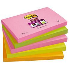 conf. 5 Blocchetti Post-it Super Sticky Neon 655S-N 56959