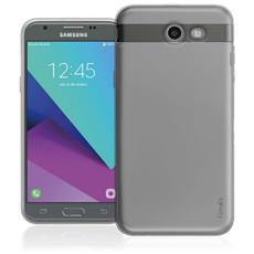 Inv Cover Ultra Sottile 0,2 mm in Morbido TPU per Samsung Galaxy J7 (7) Colore Nero Trasparente