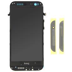 Schermo Display Lcd Vetro E Touch Screen Con Frame Grigio Per One M8