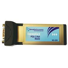 XC-235, ExpressCard, Seriale, RS-232, Computer portatile, CE, WEEE, TAA, AEO C-TPAT, Cablato