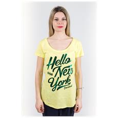 T-shirt Donna Light Jersey Giallo Verde L