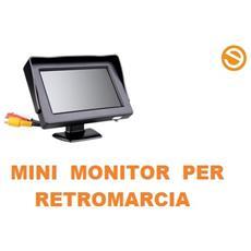 """Mini Monitor Retromarcia Lcd 4,3"""""""" A Colori Per Auto, Camper, Suv"""