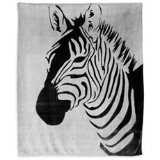 Soleil D'ocre 512382 Plaid Morbidissimo 130 X 150 Cm Zebra Nero E Grigio