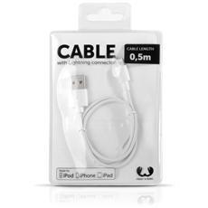 Cavo USB Lightning da 50cm - Bianco