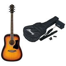 Chitarra acustica V50NJP-VS Jam Pack + KIT (borsa, tracolla, accordatore e plettri)