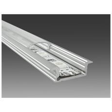 Profilo In Alluminio 2mt Pr2 Da Incasso Per Strisce Led Cover Trasperente + Tapp