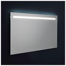 Specchio Con Fascia A Led Superiore Retroilluminato 120x70 Cm
