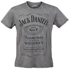 Jack Daniel's - Acid Washed Grey (T-Shirt Unisex Tg. S)