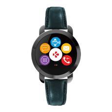 Zecircle 2 Activity Tracker Premium Black con cinturino in pelle contapassi, calorie bruciate colore Nero