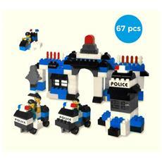 Playset Mattoncini 339527 Police Station 67 Elementi Da Assemblare