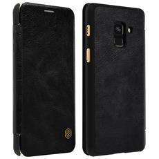 Custodia Galaxy A8 Portafoglio Vera Pelle Serie Qin Nillkin Portacarte Nero