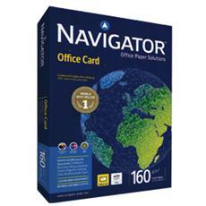 confezione da 5 pezzi - carta navigator office card a3 160gr 250fg 297x420mm
