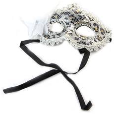 maschera creatore 'carnaval de venise' argento pantera bianca - [ n6183]